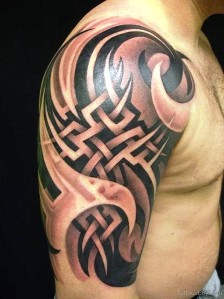 Black Biomechanical Tattoo On Shoulder Tattoo Designs Ideas And Designs