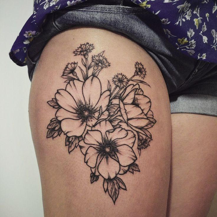 Floral Thigh Tattoo Designs Ideas And Meaning Tattoos Ideas And Designs