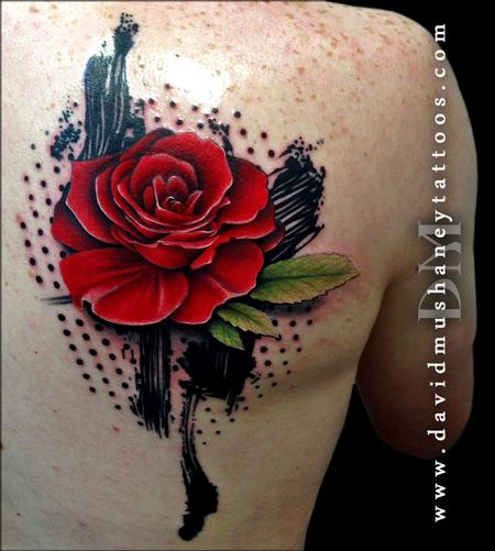 Abstract Rose Tattoo By David Mushaney Tattoos Ideas And Designs