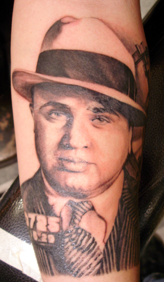 Al Capone By Julio Rodriguez Tattoonow Ideas And Designs
