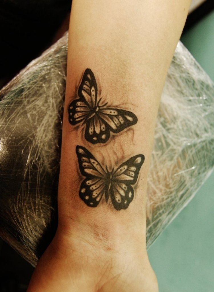 80 Fantastic Butterflies Wrist Tattoos Design Ideas And Designs