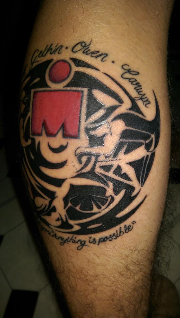 Selection Of M Dot Ironman Triathlon Tattoos From Around Ideas And Designs