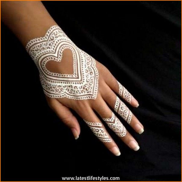 Beautiful White Henna Tattoos For Hands Life With Style Ideas And Designs