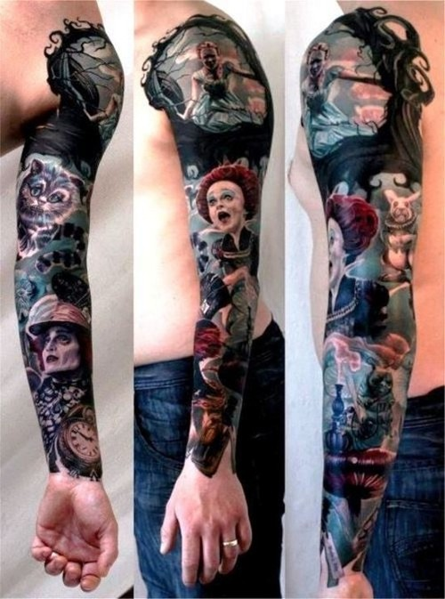 28 Nice Alice In Wonderland Tattoos – Desiznworld Ideas And Designs