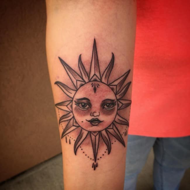 100 Impressive Sun Tattoos And Meanings 2017 Collection Ideas And Designs
