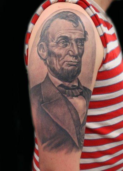 Legendary Tattoos For History Buffs Abraham Lincoln Guff Ideas And Designs