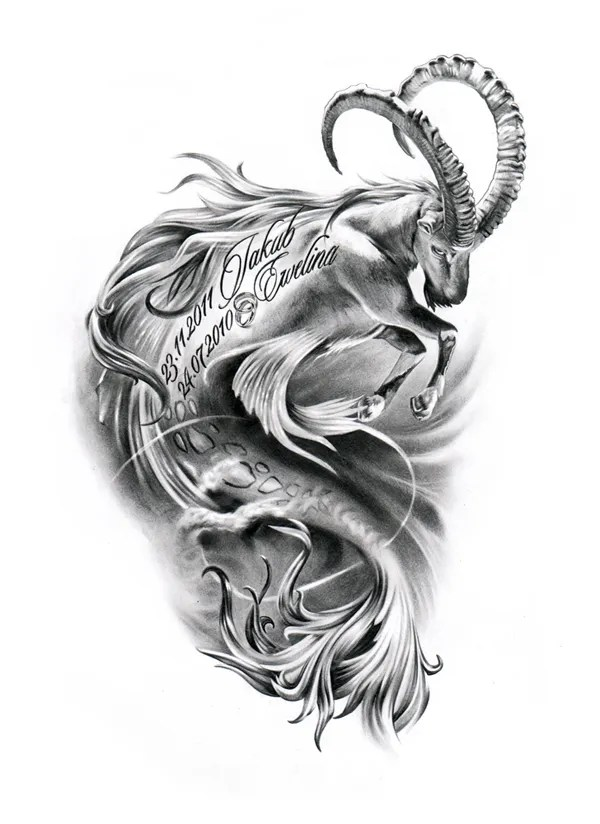 50 Best Capricorn Tattoo Designs With Meanings For Men Women Ideas And Designs