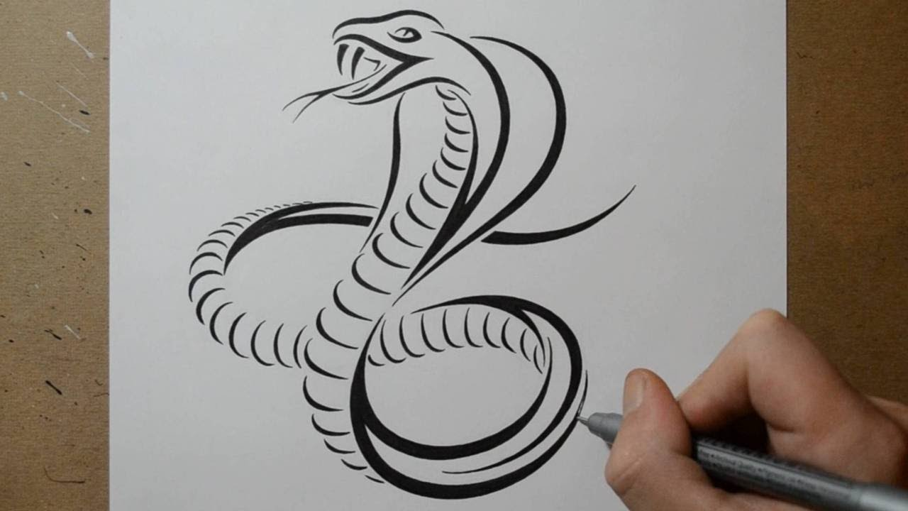 How To Draw A Cobra Snake Tribal Tattoo Design Style Ideas And Designs
