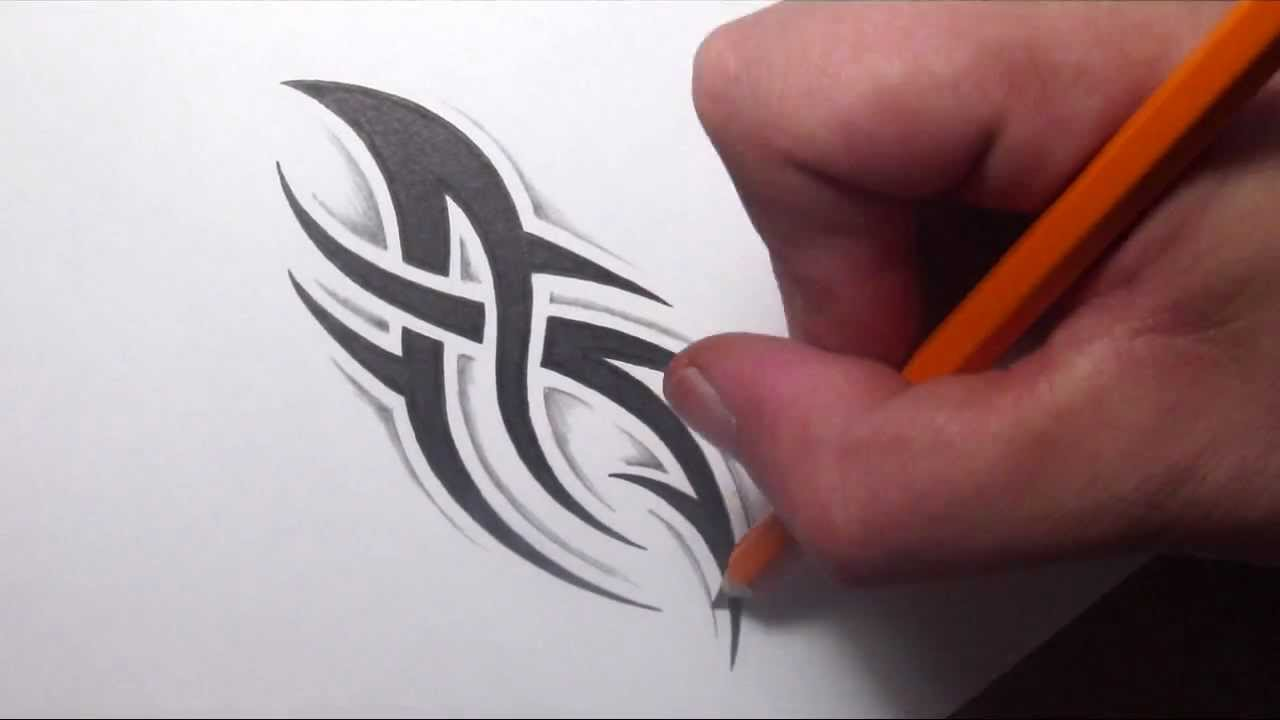Drawing A Simple Spiky Tribal Tattoo Design With Some Ideas And Designs