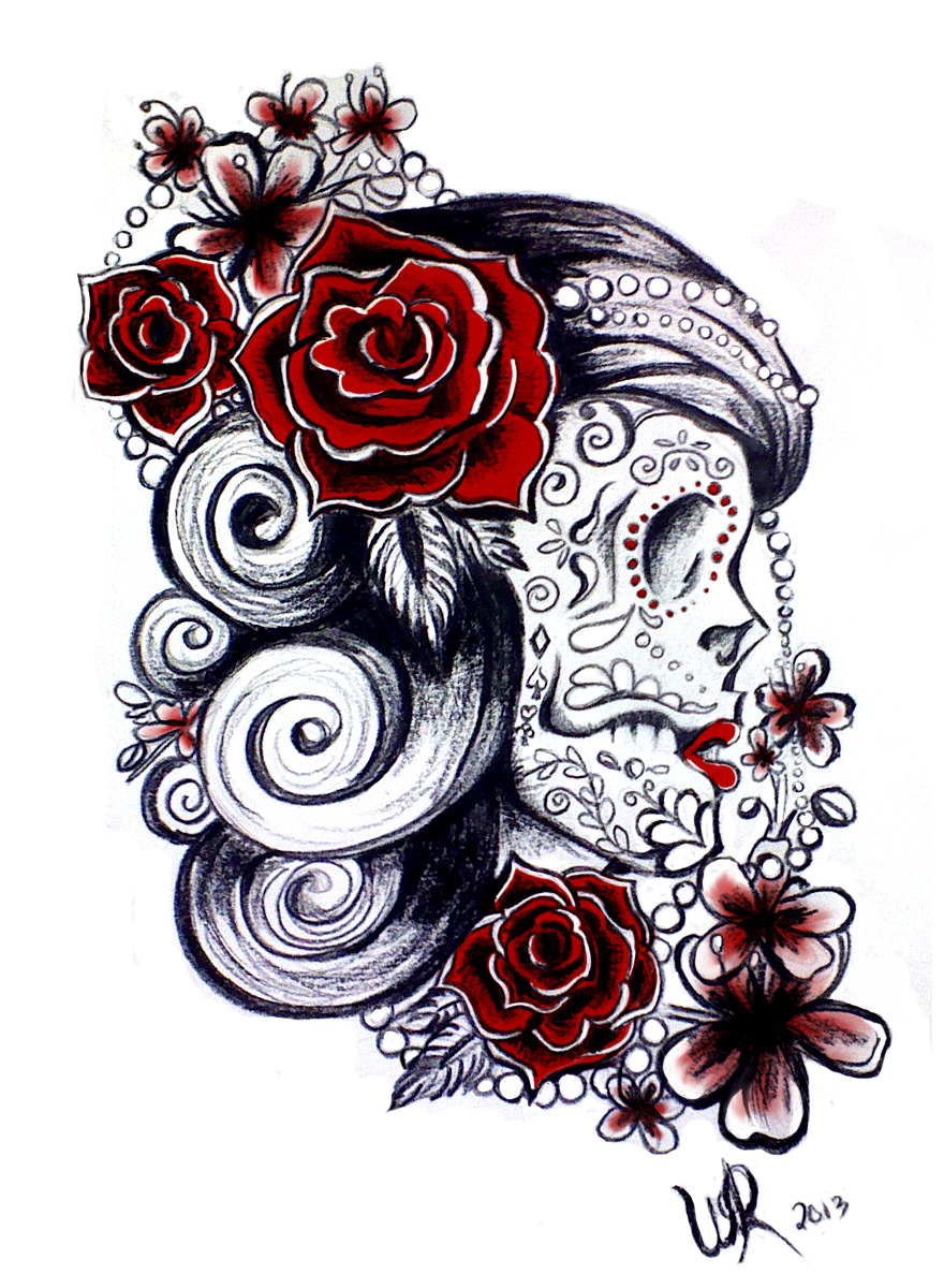 Sugar Skull Design By Ayeri On Deviantart Ideas And Designs