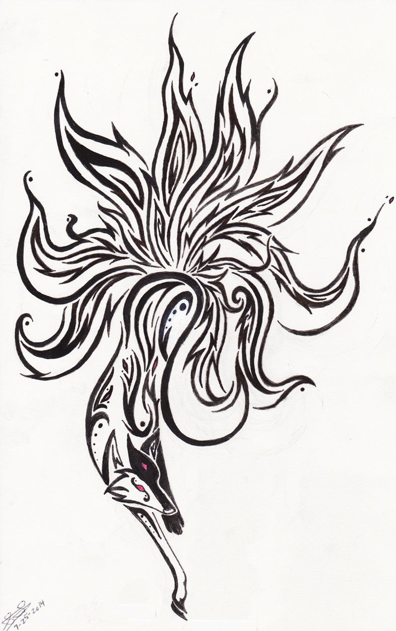 Kitsune Tribal By Emeraldraindragon On Deviantart Ideas And Designs