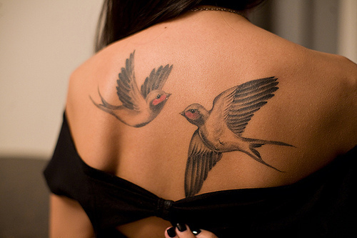 Back Birds Girl Photography Tattoo Image 254518 On Ideas And Designs