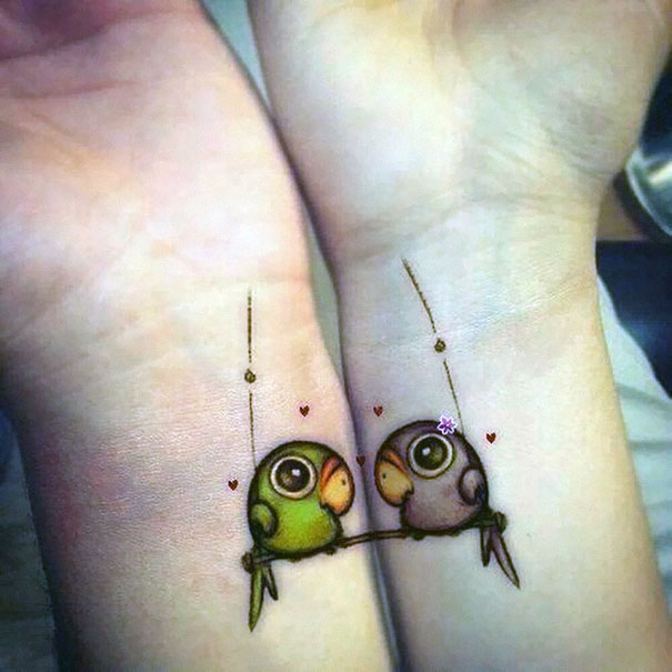 20 Matching Couple Tattoos For L*V*Rs That Will Grow Old Ideas And Designs