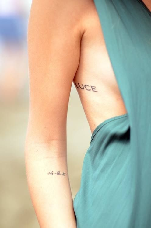 Script Small Tattoos Ribs And Arm Tattoos Pinterest Ideas And Designs