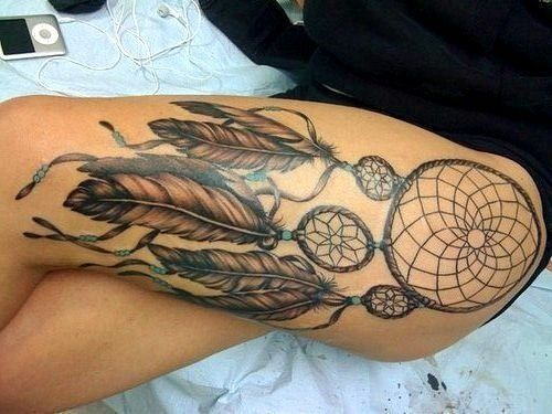 I Want A Big Thigh Tattoo My Dreams Pinterest Ideas And Designs