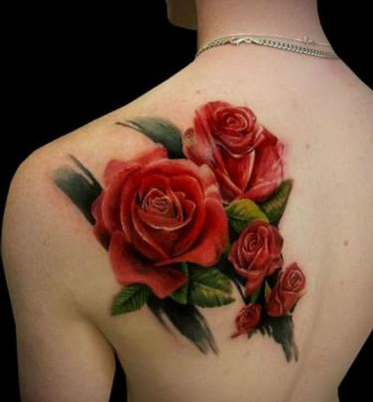 3D Red Rose Tattoos For Back Best Tattoo Designs Pinterest Ideas And Designs