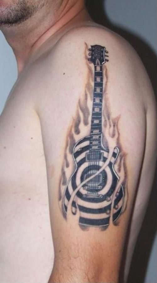 Acoustic Guitar Tattoos Tattoos Pinterest Ideas And Designs