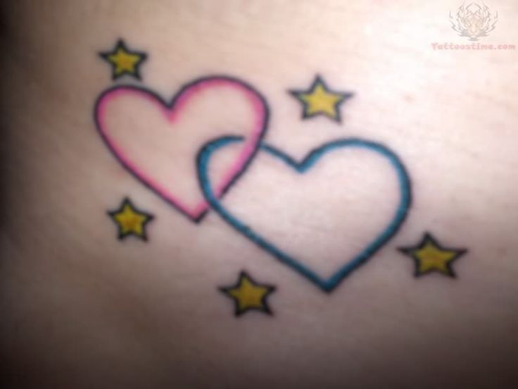 Hearts Moon And Stars Wrist Tattoo Maybe Do Five Hearts Ideas And Designs