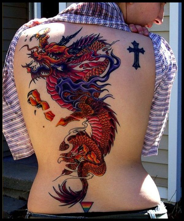 Large Red And Purple Dragon Design ★ Chinese Dragon Ideas And Designs