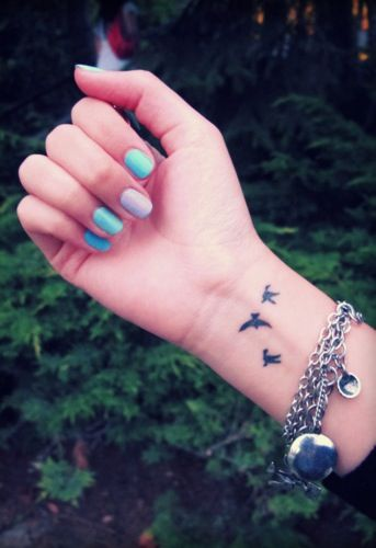 Bird Wrist Tattoo Tattoo Pinterest Ideas And Designs