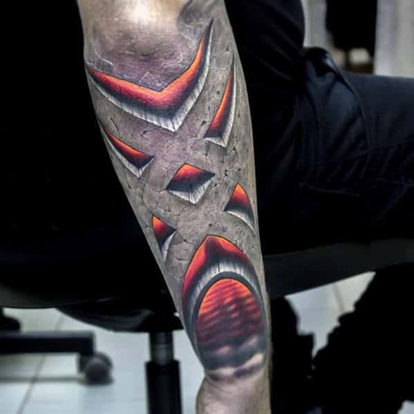 50 3D Forearm Tattoos For Men Three Dimensional Design Ideas Ideas And Designs
