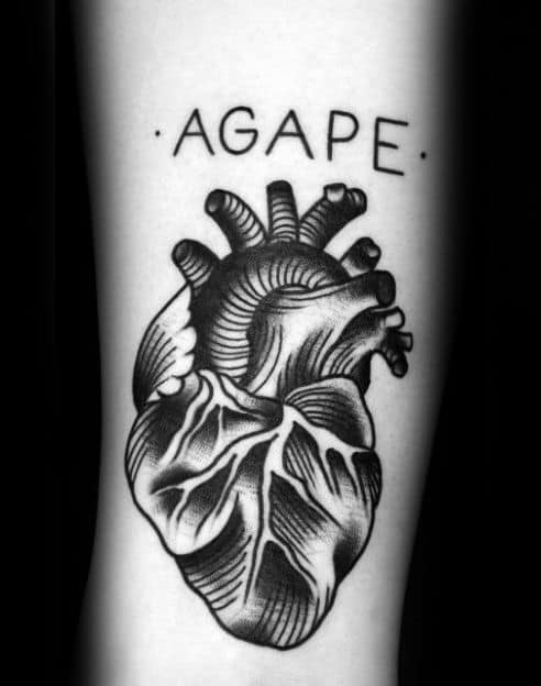 30 Agape Tattoo Designs For Men Highest Form Of Love Ink Ideas And Designs