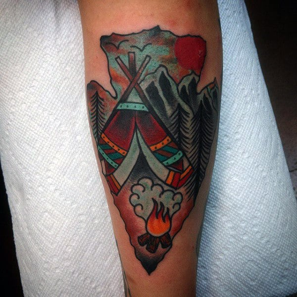 80 Arrowhead Tattoo Designs For Men Ancient Weaponry Ink Ideas And Designs
