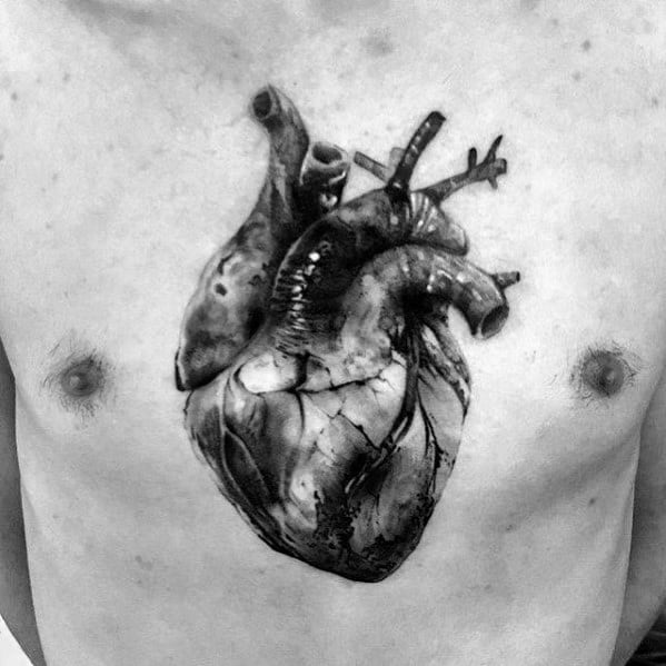 40 3D Heart Tattoo Ideas For Men Three Dimensional Designs Ideas And Designs