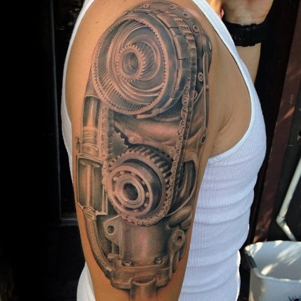 50 Engine Tattoos For Men Motor Design Ideas Ideas And Designs