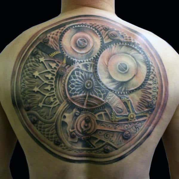 75 Steampunk Tattoo Designs For Men Masculine Machinery Ideas And Designs