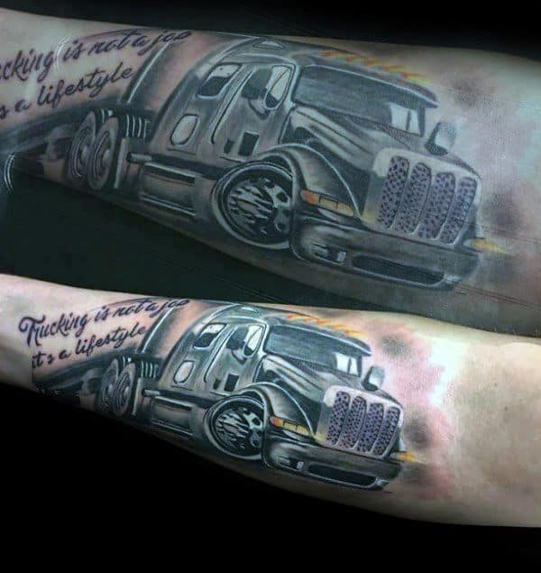 60 Truck Tattoos For Men Vintage And Big Rig Ink Design Ideas And Designs