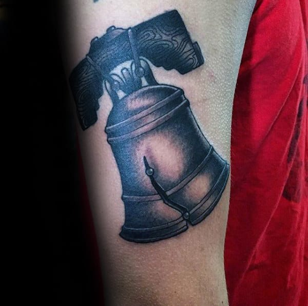 40 Liberty Bell Tattoo Designs For Men Patriotic Ink Ideas Ideas And Designs