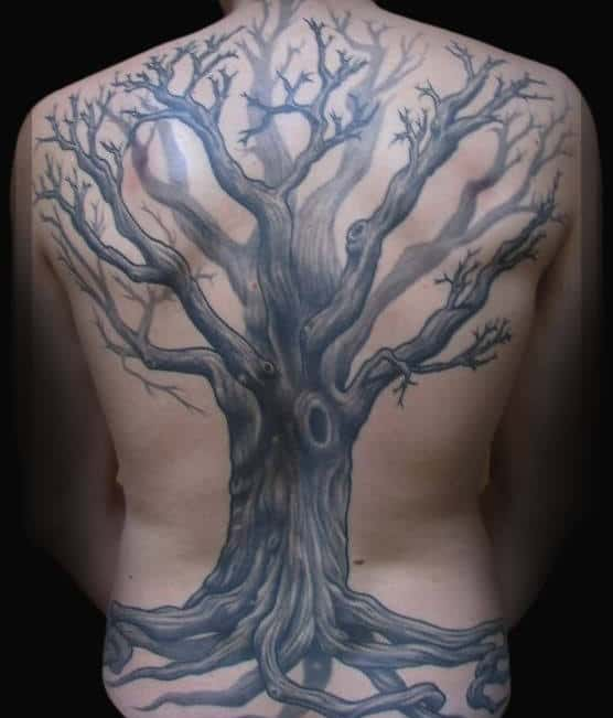 40 Tree Back Tattoo Designs For Men Wooden Ink Ideas Ideas And Designs