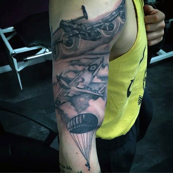 30 Airborne Tattoos For Men Military Ink Design Ideas Ideas And Designs