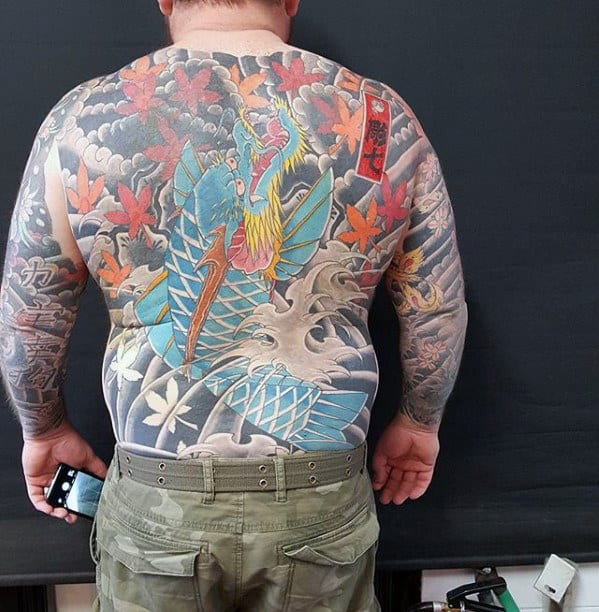 50 Koi Dragon Tattoo Designs For Men Japanese Fish Ink Ideas Ideas And Designs
