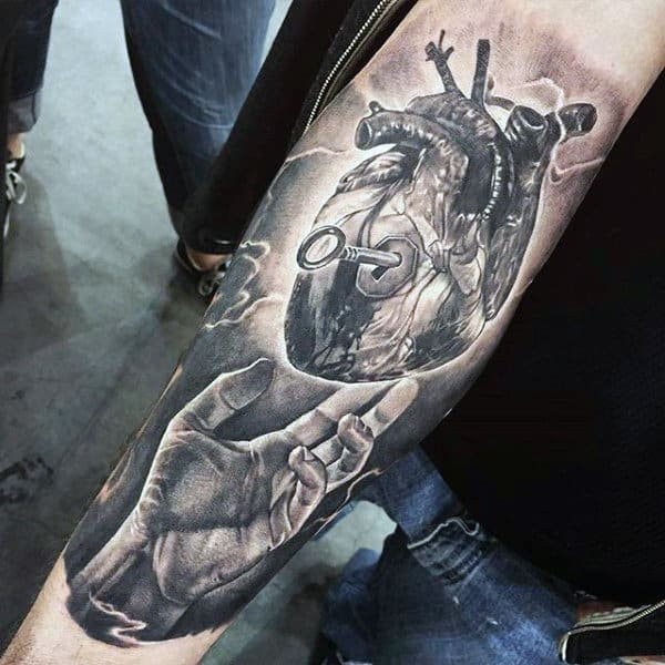90 Anatomical Heart Tattoo Designs For Men Blood Pumping Ink Ideas And Designs