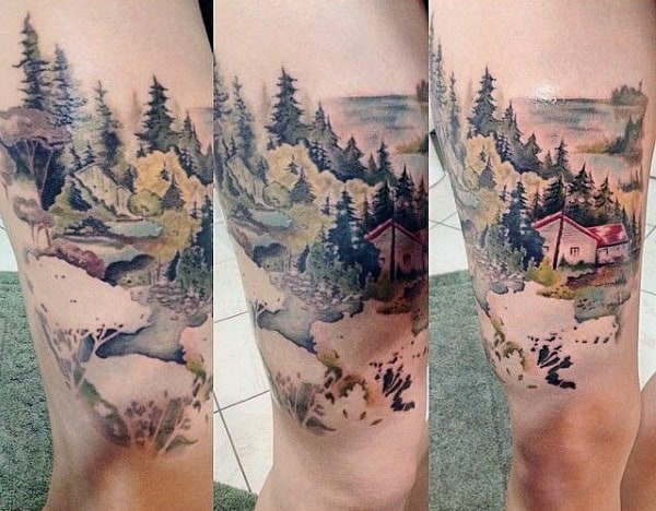 70 Pine Tree Tattoo Ideas For Men Wood In The Wilderness Ideas And Designs