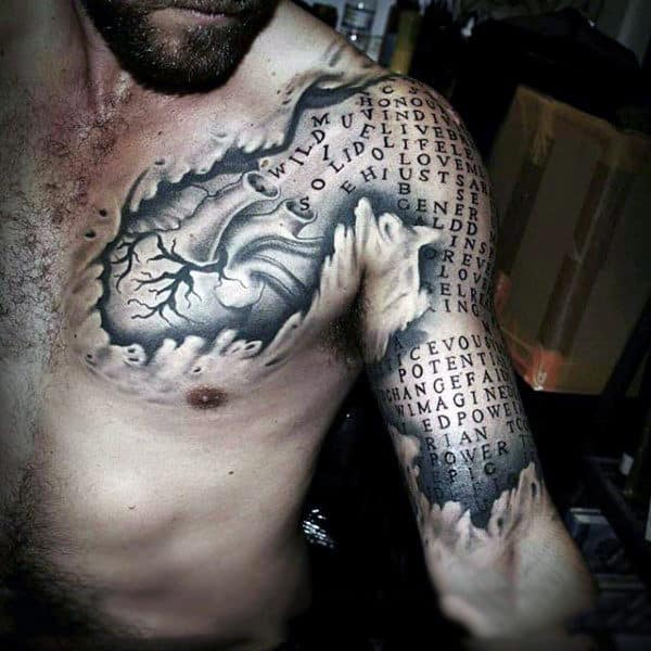 100 Optical Illusion Tattoos For Men Eye Deceiving Designs Ideas And Designs