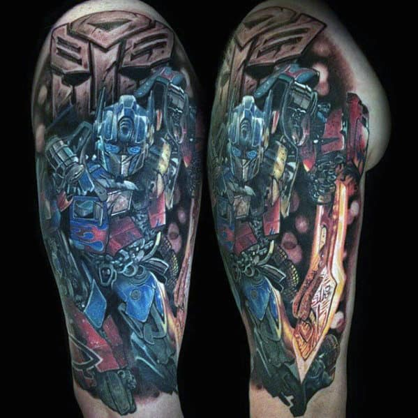 60 Transformers Tattoo Designs For Men Robotic Ink Ideas Ideas And Designs