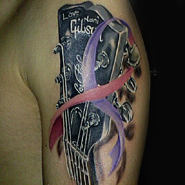 70 Cancer Ribbon Tattoos For Men Supportive Design Ideas Ideas And Designs