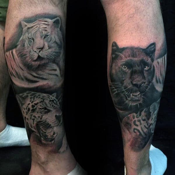 60 Leopard Tattoos For Men Designs With Strength And Prowess Ideas And Designs
