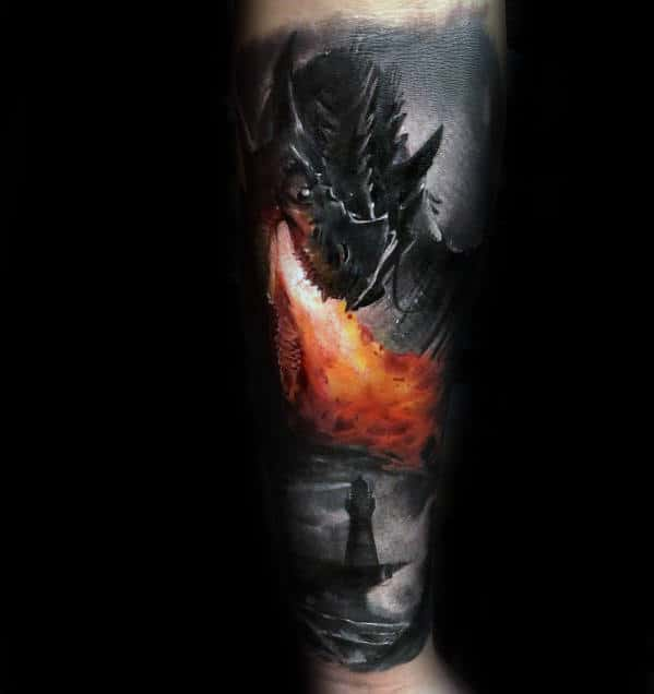 30 Dragon Forearm Tattoo Designs For Men Cool Creature Ideas Ideas And Designs