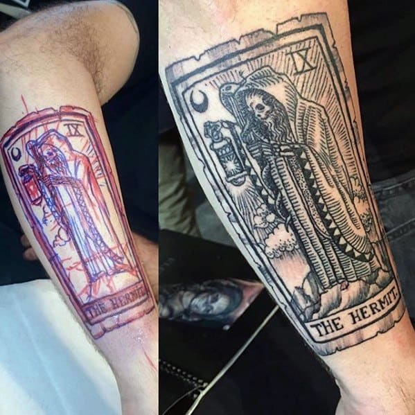 60 Tarot Tattoo Designs For Men Playing Card Ink Ideas Ideas And Designs