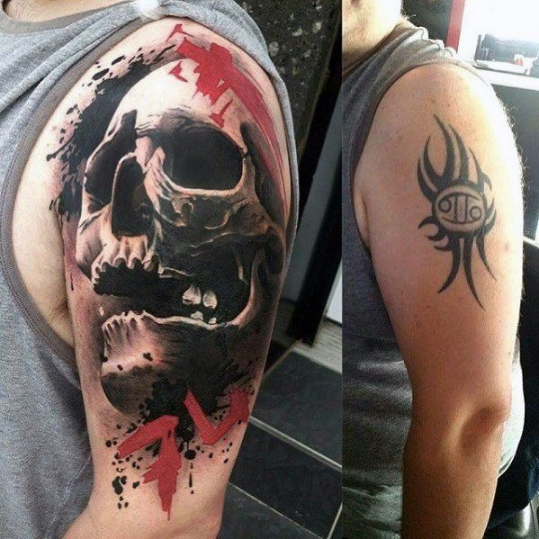 60 Cover Up Tattoos For Men Concealed Ink Design Ideas Ideas And Designs