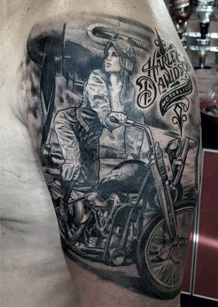 60 Motorcycle Tattoos For Men Two Wheel Design Ideas Ideas And Designs