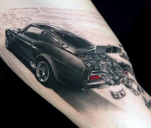 40 Mustang Tattoo Designs For Men Sports Car Ink Ideas Ideas And Designs