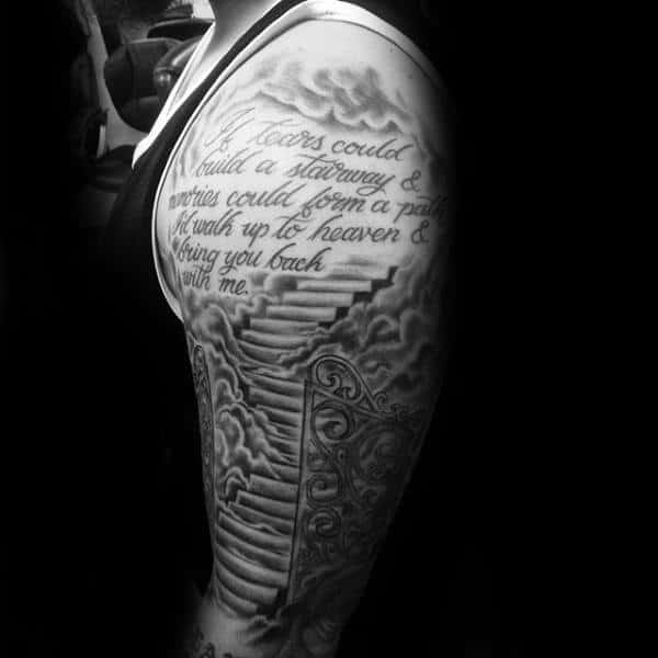 50 Heaven Tattoos For Men Higher Place Design Ideas Ideas And Designs