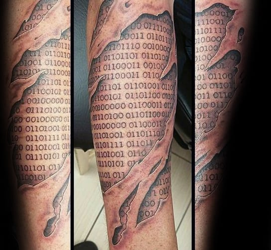 30 Binary Tattoo Designs For Men Coded Ink Ideas Ideas And Designs