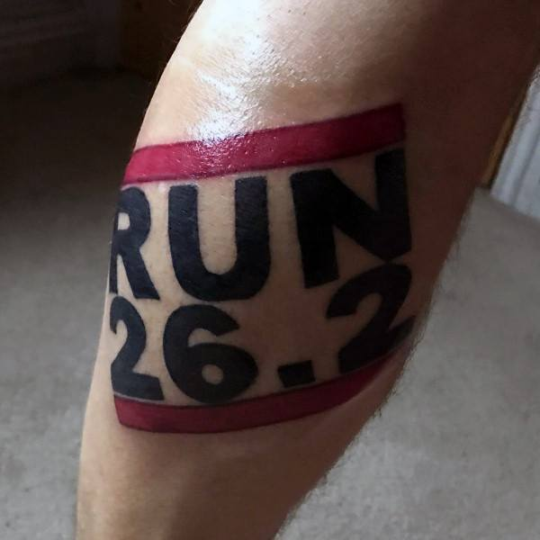 Top 40 Best 26 2 Tattoo Designs For Men Running Marathon Ideas And Designs