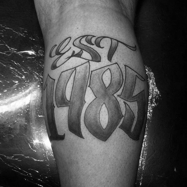 30 Est Tattoo Designs For Men Birth Year Ink Ideas Ideas And Designs